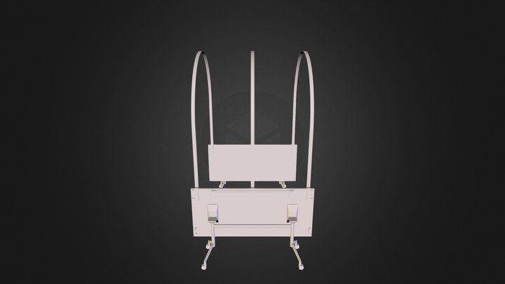 Folding Table Structure Arch1 3D Model