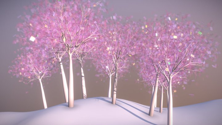 Shiny Forest 3D Model