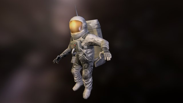 Astronaut Game Character 3D Model