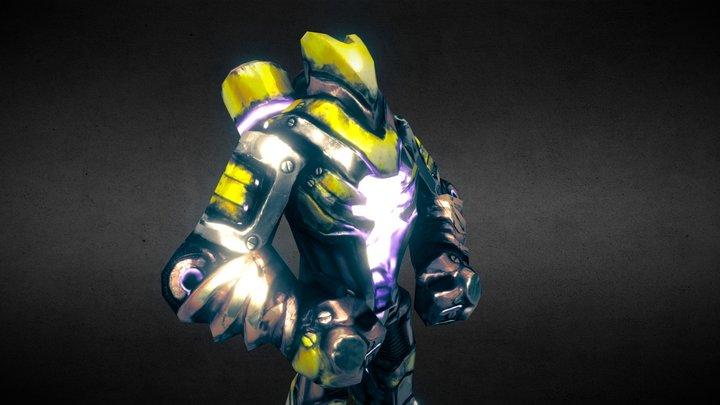 Armored Golem 3D Model