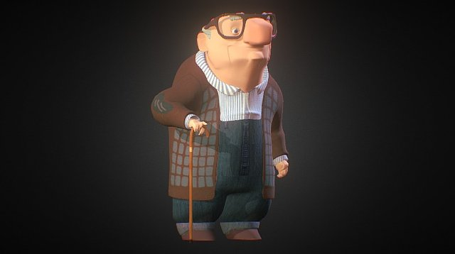 Benedito, the old guy 3D Model