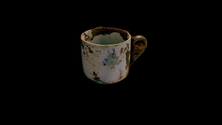 Porcelain Teacup from the SS Gairsoppa 3D Model