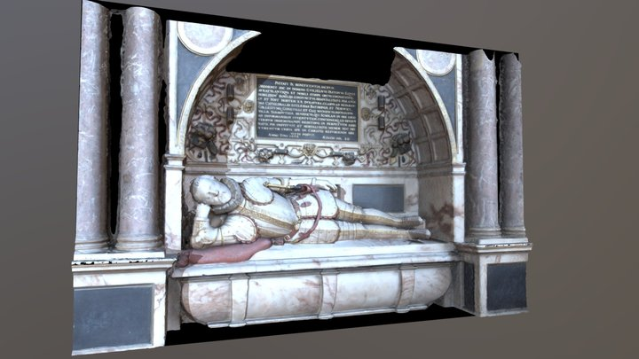 The Tomb of William Paston 3D Model