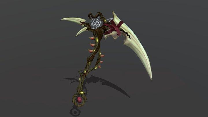 Druid Scythe | Game Art | Weapon Craft 3D Model