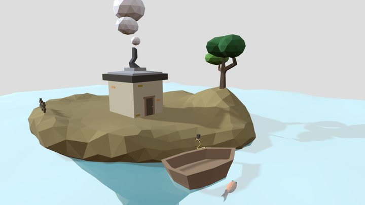 Tiny Cabin - secret human experiments area 3D Model