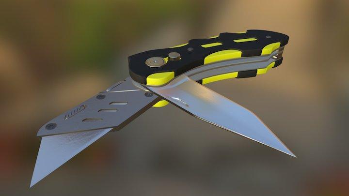 Saxo Knife Tool 3D Model