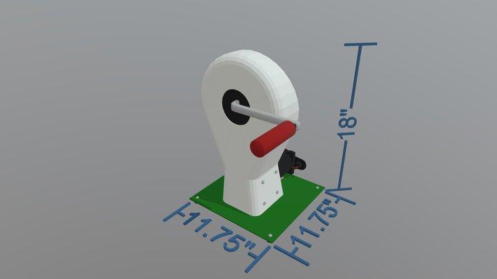 Hand Crank Generator 3D Model