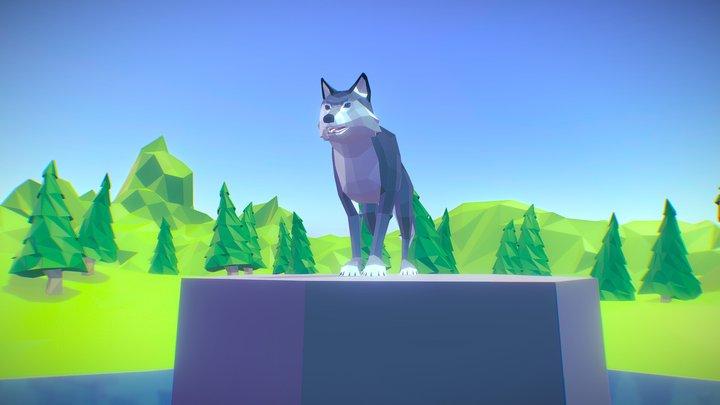 Poly Art Wolf 3D Model