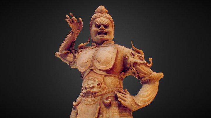 Warrior Tang Dynasty Terracota 3D Model