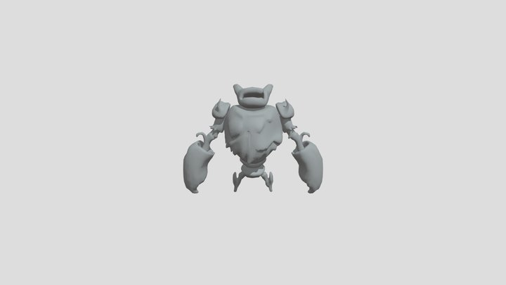 Forest Golem Hit 4 3D Model