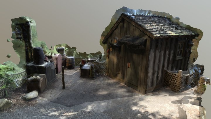 Props from Tom Sawyer Island 3D Model