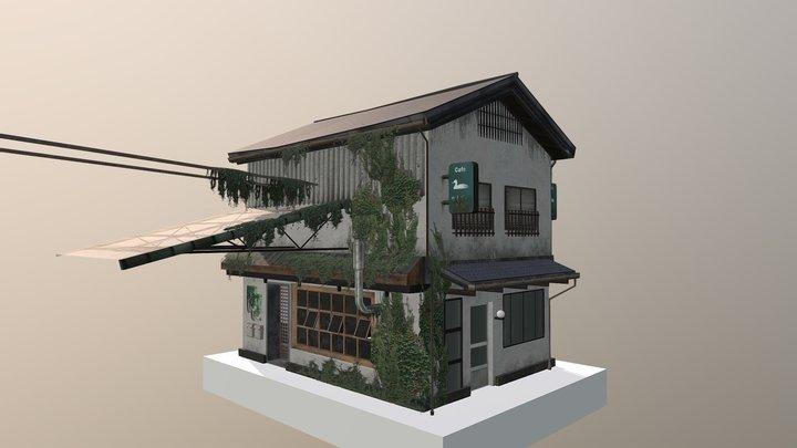 Kyoto cityscene: Plantshop 3D Model