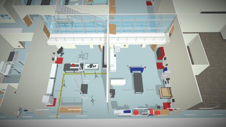RTI Drop Testing Lab & Machine Shop 3D Model