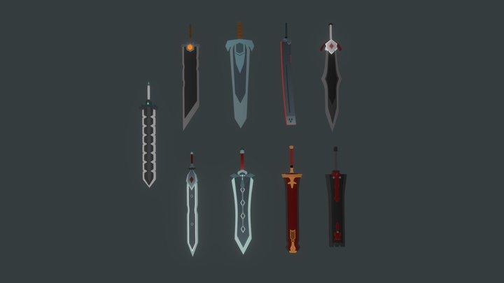 Swords Lowpoly 3D Model