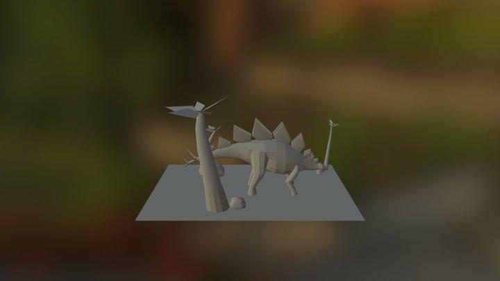 Green Pokodot Stegosaurus 3D Model