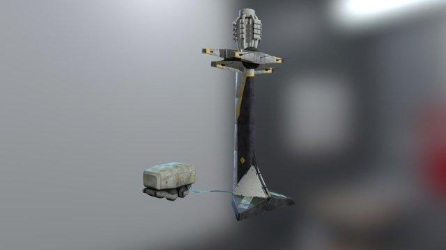Dirty bomb style - Pylon and generator 3D Model