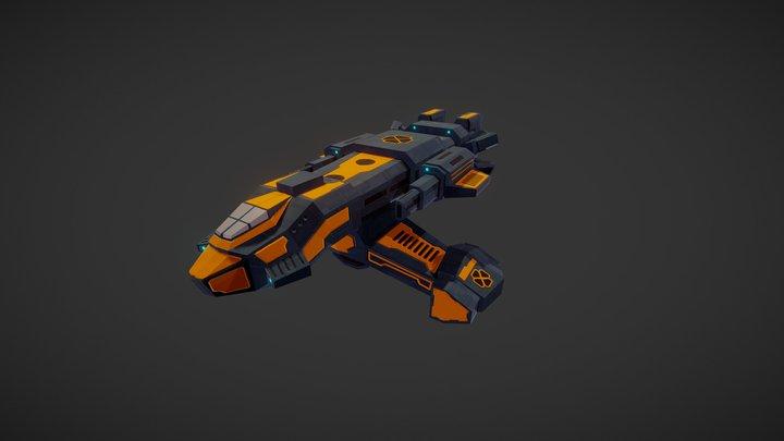 Assault Frigate 3D Model