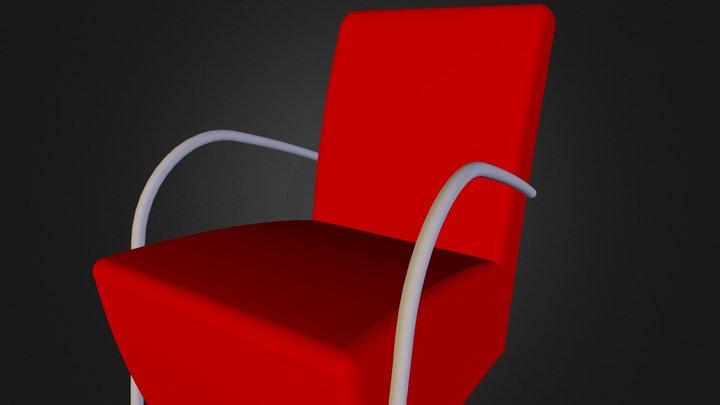 Rode Stoel 3D Model