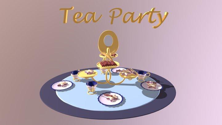 Tea Party 3D Model