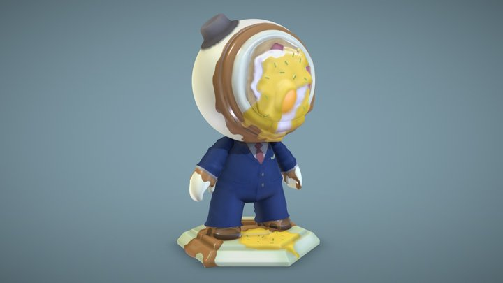 #MeetMat2 - Eggs Benedict 3D Model
