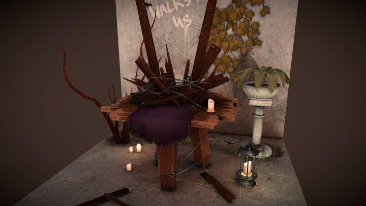 Dishonored 2 Shrine Fanart 3D Model