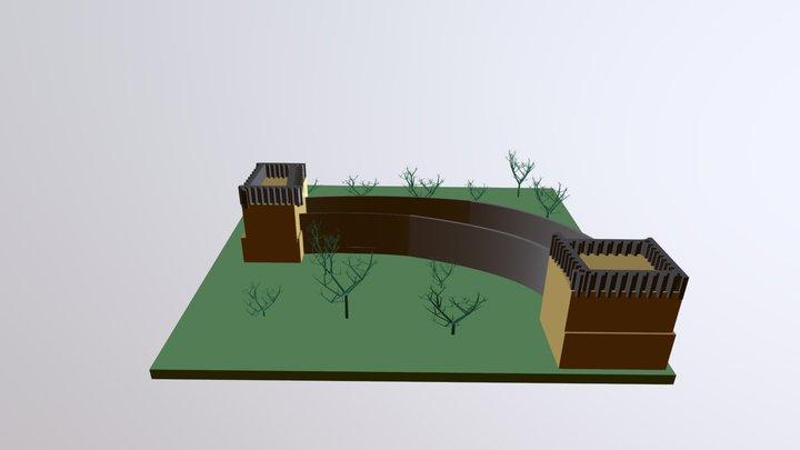 China's Wall 3D Model