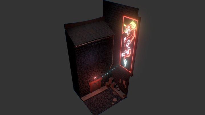 Neon Alley 3D Model