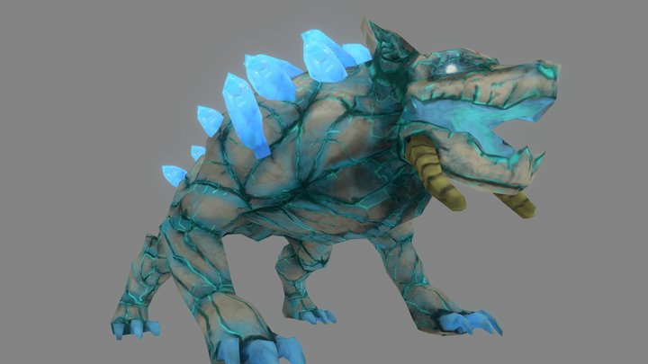Frost Hound 3D Model
