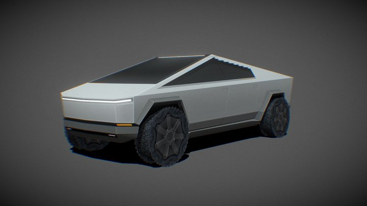 Tesla CyberTruck 256Poly 3D Model