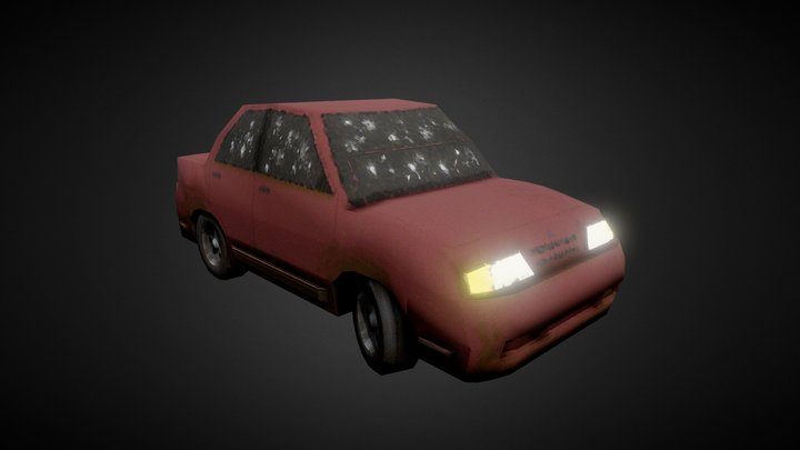 Urban Sedan (Stylized) 3D Model