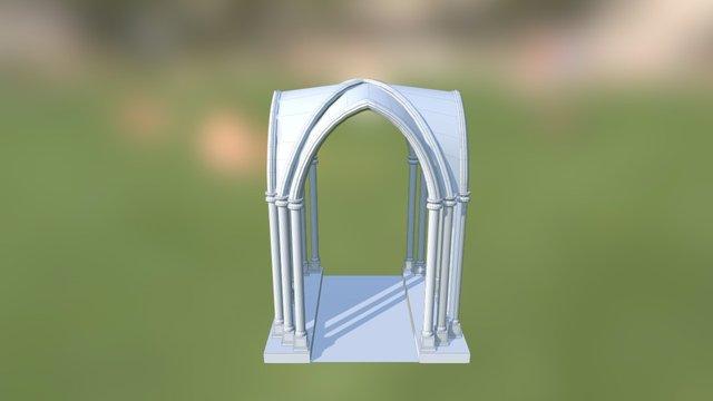 4A Hillary Campos Arquitectura Gotica 3D Model