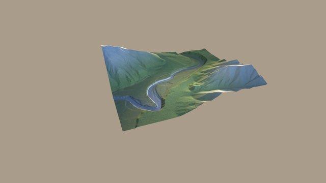 Greys River 3D Model