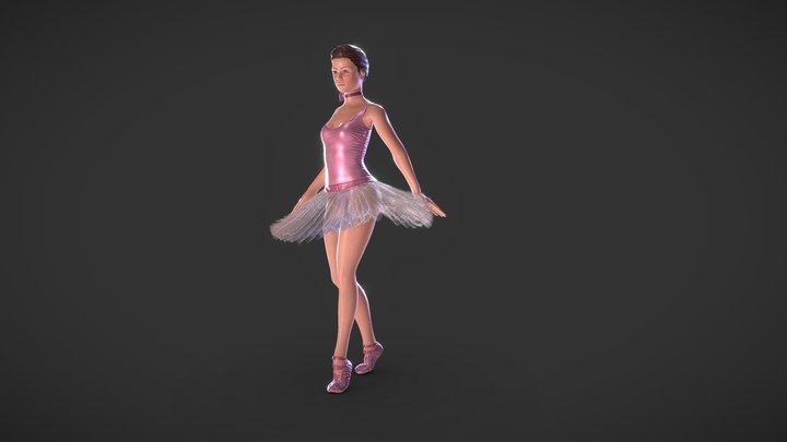 RIGGED Ballerina 3D Model