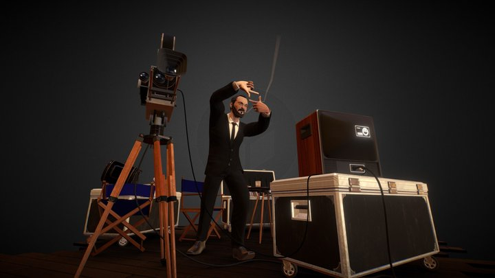 Scene Kubrick 3D Model