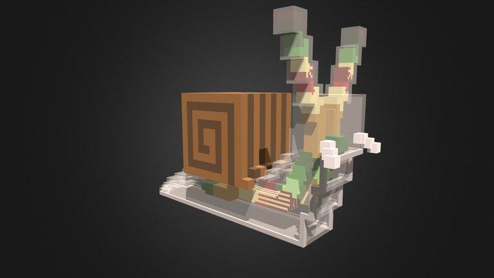 Voxel Art | Zombie Snail 3D Model