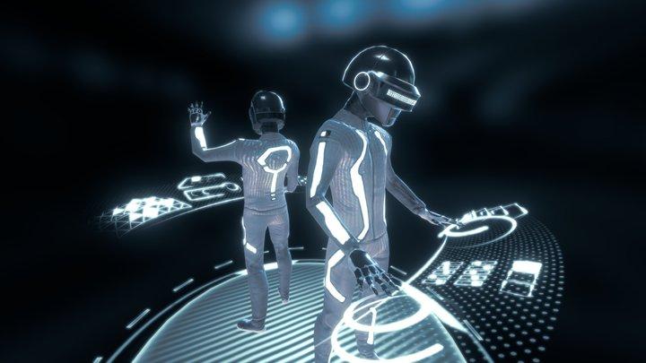 Daft Punk in End of Line Club 3D Model