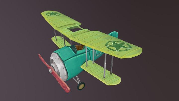 Plane Game Art 3D Model
