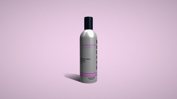 Salon Mousse Bottle 3D Model