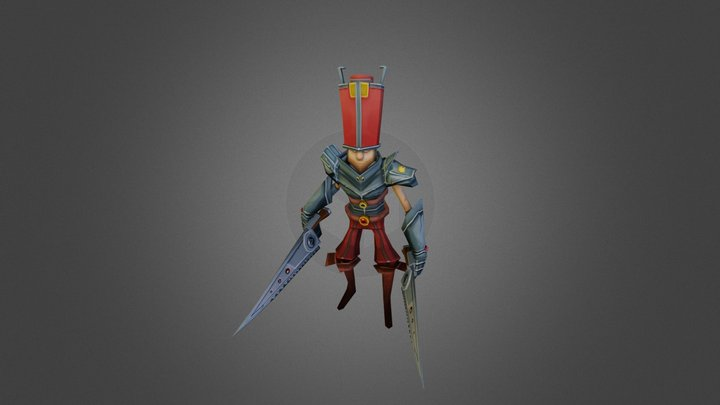 Cartoony Character 3D Model