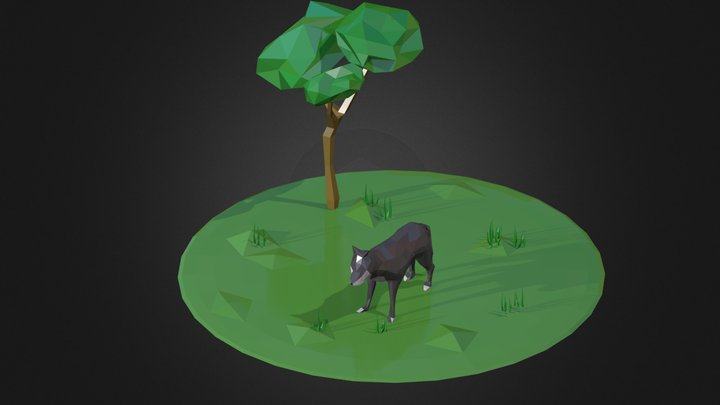 Wolf Low Poly 3D Model