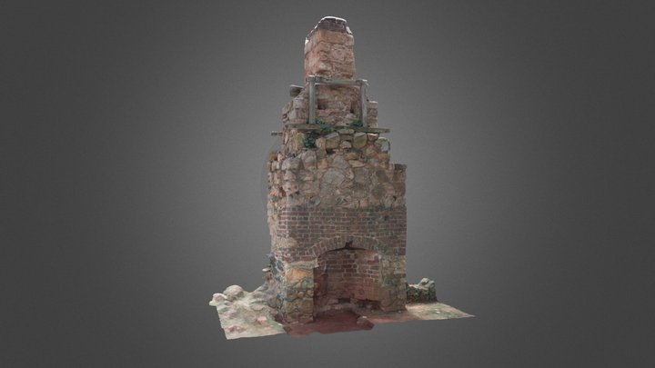 Monticello Joinery Shop Chimney 3D Model