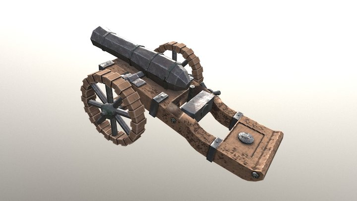 Medieval Canon - Low Poly 3D Model