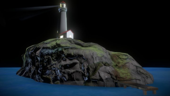 Lighthouse Low Poly (Modelling Challenge) 3D Model