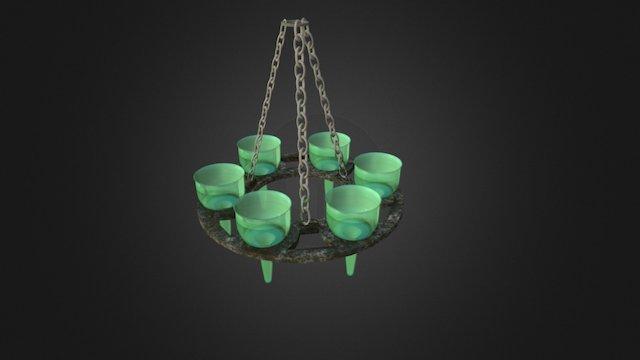 Ancient Oil Lamps 3D Model