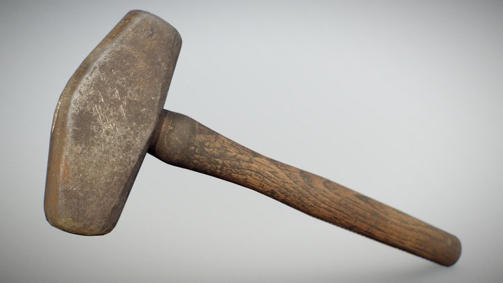 Old Hammer (free - photobashed - gameready) 3D Model