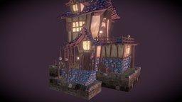 Medieval Hat Shop 3D Model