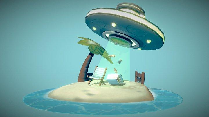 Extraterrestrial Beer Run 3D Model