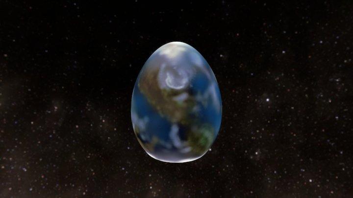 Earth Day Egg 3D Model