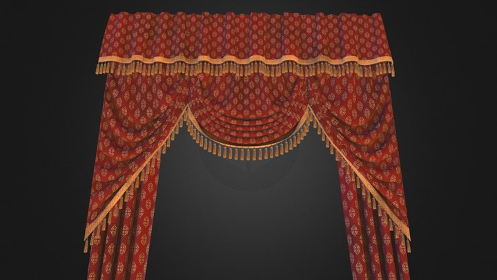 Royal Curtains 3D Model