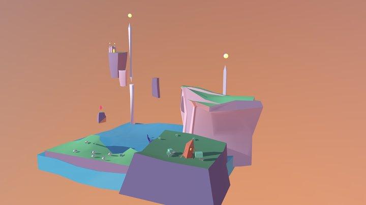 Diorama Cliff 3D Model